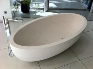 bañera de mármol modelo oval