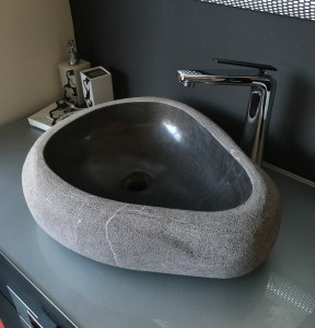 lavabo de mármol modelo rústico