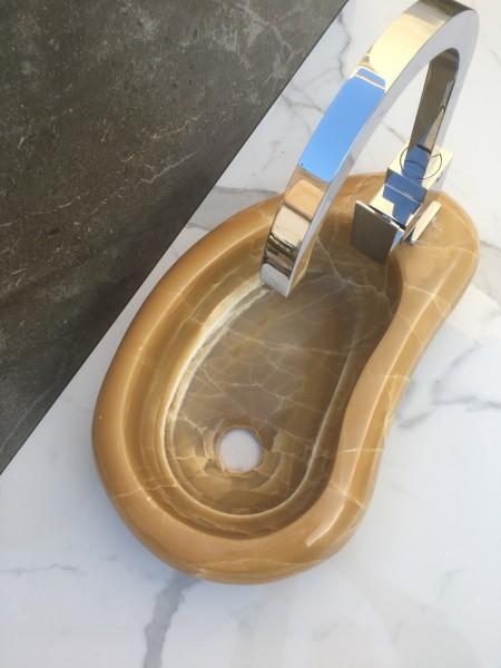 lavabo de piedra onix miel