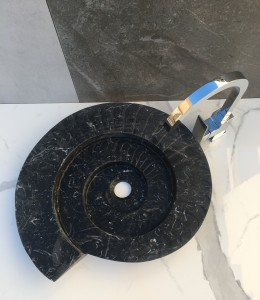 lavabo de piedra natural modelo fósil