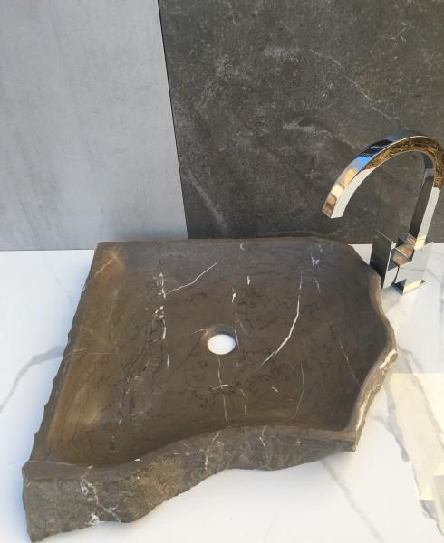 lavabo de piedra natural modelo rústico