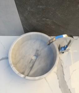 lavabo de piedra natural modelo cilin